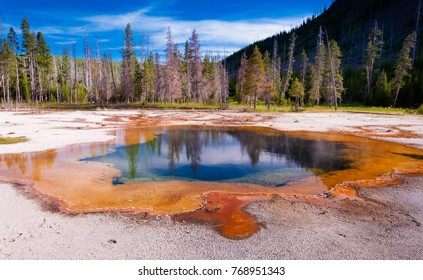 Midway Geyser Basin in the Yellowstone national park
