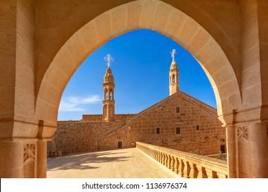 Midyat, Mardin, Turkey, Mor Gabriel Syriac Monastery in Midyat Town