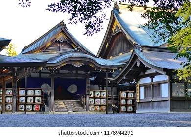 Mie, Japan - Mar 17, 2018. Part of Ise Shrine (Ise Jingu) in Mie, Japan. The Shrine is Japan most sacred Shinto shrine and dates back to the 3rd Century.