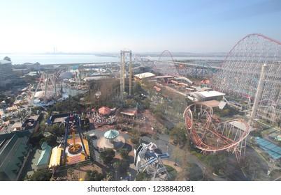 MIE JAPAN - NOVEMBER 11, 2018: Nagashima spa land amusement park in Mie Japan.
