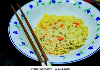 Mie Keriting Rasa Ayam Panggang, Mie Goreng, Fried Noodles