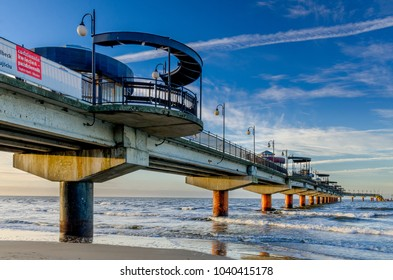 MIEDZYZDROJE, WEST POMERANIAN PROVINCE / POLAND - DECEMBER 27, 2016: Baltic seashore in Miedzyzdroje (ger.: Misdroy).