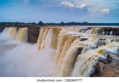 Mighty Chitrakot Waterfalls commonly known as indian niagra at jagdalpur India