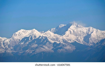 The mighty Kanchenjunga as seen from Sikkim India.
