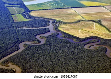 The Mighty Mississippi River Aerial View