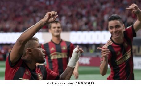 Miguel Almiron  10 MLS Atlanta United host Philadelphia Union on June 2nd 2018 at the Mercedes Benz Stadium in Atlanta, Ga - USA