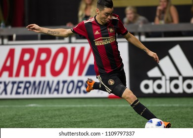 Miguel Almiron  10 MLS Atlanta United host Philadelphia Union on June 2nd 2018 at the Mercedes Benz Stadium in Atlanta, Ga - USA