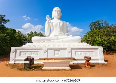 Mihintale Buddha Statue at the Mihintale ancient city near Anuradhapura, Sri Lanka