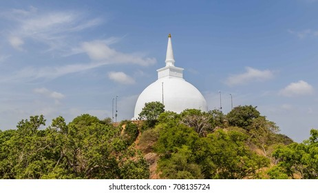 Mihintale Temple located at the top of Mahinda's Hill in  Sri Lanka