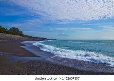 Miho Matsubara beach and Mt.Fuji in Shizuoka prefecture, Japan.