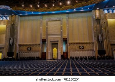 Mihrab of Kuwait Grand Mosque interior in Kuwait-city, Kuwait