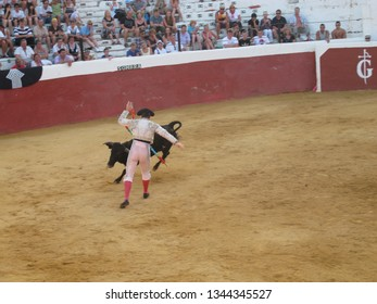 Mijas Andalusia Spain 07202015 Portrait Bullfighter During