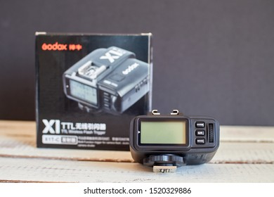 Mijas, Spain; 10/02/2019: Godox X1 TTL HSS Trigger Transmitter