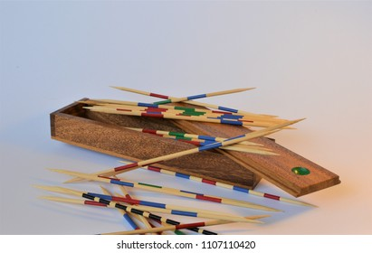 Mikado game in an isolated background