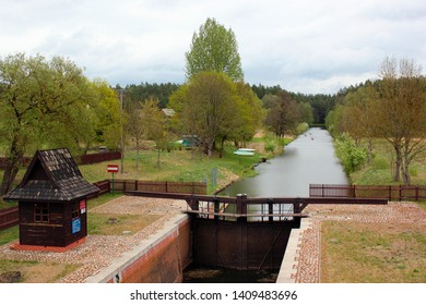 Mikaszowka Lock, the eleventh lock on the Augustow Canal in Poland. Built in 1828.