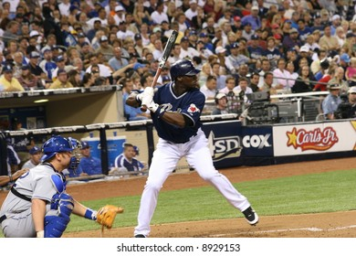Mike Cameron looks at a pitch