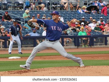 Mike Minor  pitcher for the Texas Rangers at Peoria Sports Complex in Peoria,AZ/USA March 7,2019.
