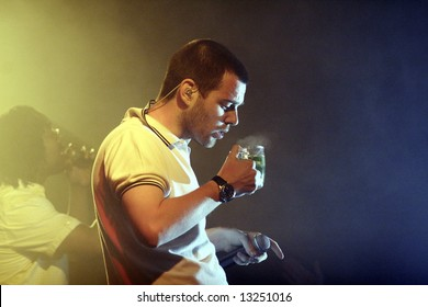 Mike Skinner in a live concert