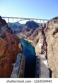 The Mike O'Callaghan–Pat Tillman Memorial Bridge  that spans the Colorado River between the states of Arizona and Nevada