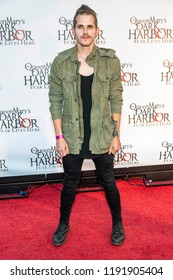 Mikey Way attends 2018 Queen Mary's Dark Harbor Media & VIP Night at Long Beach Pier,  Long Beach, California on September 28th, 2018