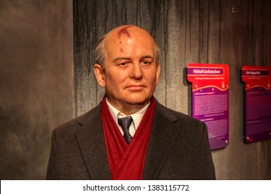 Mikhail Gorbachev wax figures in Madame Tussauds museum in Berlin, Germany - 20/04/2019