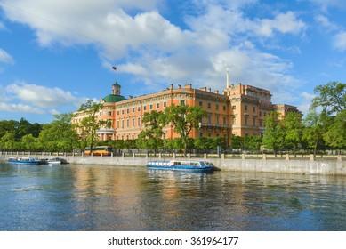 Mikhailovsky Castle in St.-Petersburg, Russia. Former Emperor Paul I residence