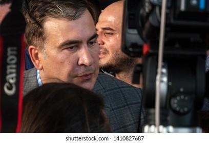 Mikheil Saakashvili returned to Ukraine after such as Volodymyr Zelensky returned citizenship. Kiev, Ukraine. May 29, 2019
