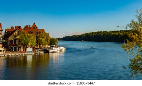 Mikolajki townscape - capital of Masurian region in Poland