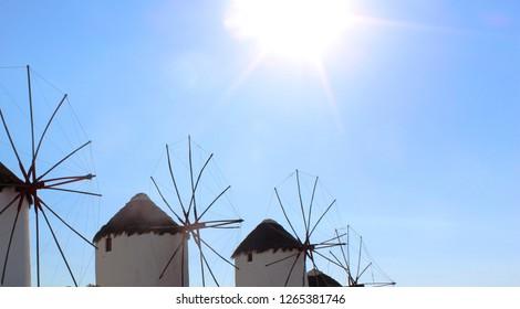 Mikonos Windmills Greece