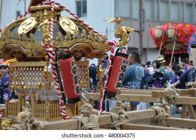 Mikoshi for Japanese traditional festival in summer