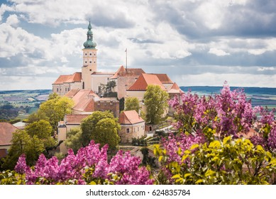 Mikulov Castle Old European Town South Moravia Czech Republic
