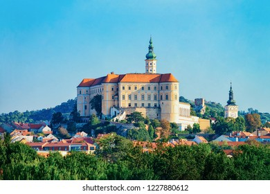 Mikulov Castle in South Moravia, in Czech Republic.