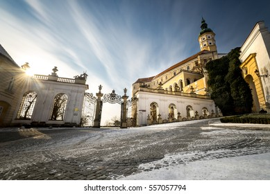 Mikulov castle, South Moravia, wine region, Czech Republic