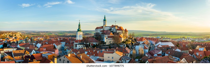 Mikulov Castle is in the town of Mikulov in South Moravia, Czech Republic.