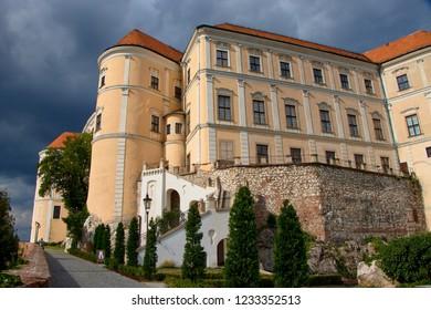 Mikulov Castle in the town of Mikulov in South Moravia, Czech Republic