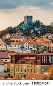 Mikulov city and castle, view from St. Sebastiano's chapel (Svaty Kopecek) - Mikulov, South Moravia, Czech Republic