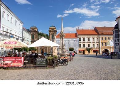 MIKULOV, CZECH REPUBLIC - July 13, 2018: Town of Mikulov in South Moravia, Czech Republic on July 13, 2018