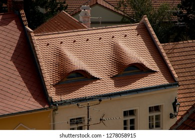 MIKULOV, CZECH REPUBLIC - July 13, 2018: Mikulov red roofs in Mikulov city, Czech Republic