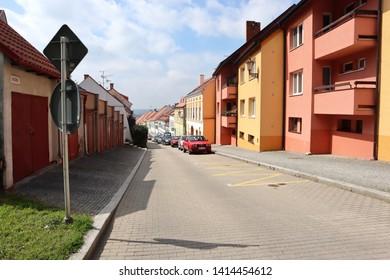 Mikulov/Czech Republic - May 18 2019: Colorful house in Mikulov