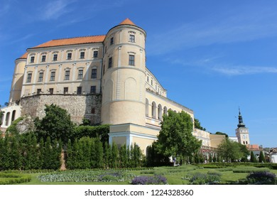 Mikulov/Czech Republic - May 20, 2018: Mikulov castle in South Moravia, Czech Republic