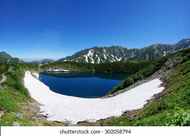 Mikuriga Pond in Tateyama Kurobe Alpine Route