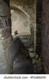 mikvah, or ritual jewish bath, in Girona, a city in Spain with a preserved Jewish quarter