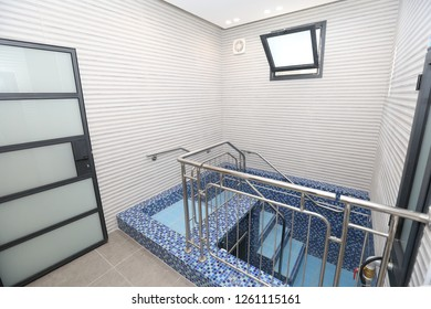 """A """"Mikveh"""" (Hebrew for ritual bathhouse) used by men and women separately to purify themselves from sin and impurity"""