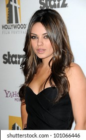 Mila Kunis at the 14th Annual Hollywood Awards Gala, Beverly Hilton Hotel, Beverly Hills, CA. 10-25-10