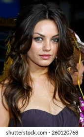"""Mila Kunis attends the World Premiere of """"Forgetting Sarah Marshall"""" held at the Grauman's Chinese Theater in Hollywood, California, United States on April 10, 2008."""