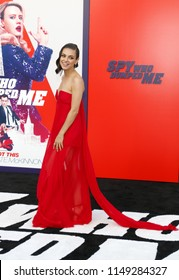 Mila Kunis at the Los Angeles premiere of 'The Spy Who Dumped Me' held at the Regency Village Theater in Westwood, USA on July 25, 2018.