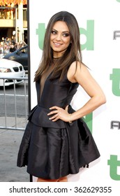 """Mila Kunis at the Los Angeles premiere of """"Ted"""" held at the Grauman's Chinese Theater in Los Angeles, California, United States on June 21, 2012."""