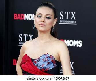 Mila Kunis at the Los Angeles premiere of 'Bad Moms' held at the Mann Village Theater in Westwood, USA on July 26, 2016.