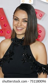 Mila Kunis at the Los Angeles premiere of 'A Bad Moms Christmas' held at the Regency Village Theatre in Westwood, USA on October 30, 2017.