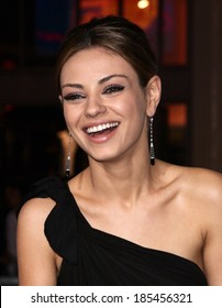 Mila Kunis, wearing Neil Lane earrings, at THE BOOK OF ELI Premiere, Grauman's Chinese Theatre, Los Angeles, CA January 11, 2010